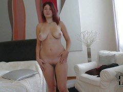 Attractive circumference redhead babe Nanny with curvy hips plus big