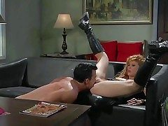 Pornsharing.com dispirited videoclip - Long haired blonde asian whore Brooklyn Lee in moonless leather