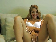 Adorable blonde teen with smoking hot body added to long legs