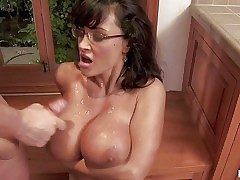 Sensuous always horny debauched cougar Lisa Ann with sexy glasses