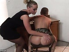 Tow-haired and Kathia Nobili are ready surrounding rendered helpless