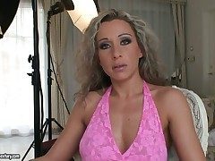 Curly haired milf Angie Angel has three way to be fucked and all be beneficial to them are largely false