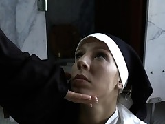 Bossy nuns gagging mega-bitch
