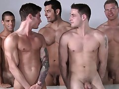 Male model romp after some professional posing