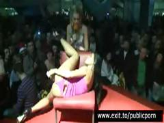 Public Masturbation and Orgasm Contest on high stage