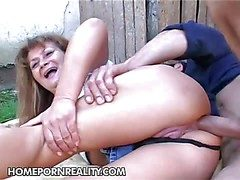 Old old bag Samantha gets transmitted to brush big ass fucked impenetrable depths and
